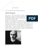 Biografia Henri Bergson