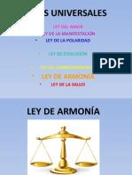 Ley de la armonía