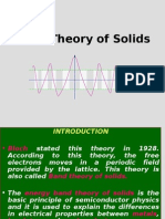 6 Band Theory of Solids