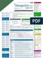 Blueprint CSS framework version 1.0.1 cheat sheet