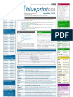 Blueprint CSS framework version 1.0.1 cheat sheet
