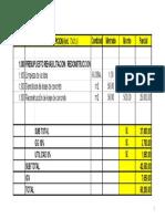 Dispositiva Faltante Costos Covid y Adicionales de Obra