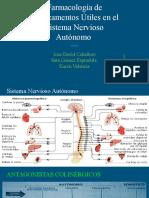 Farmacología del Sistema Nervioso Autonomo- Ultima Version