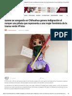 Bufete de abogados en Chihuahua genera indignación al romper una piñata que representa a una mujer feminista de la marea verde #Fotos _ Revolución 3