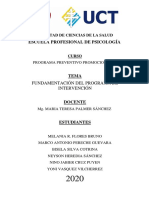 Fundamentación Del Programa de Intervención.- (1)