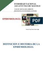 DEFINICIÓN E HITORIA DE LA EPIDEMIOLOGÍA