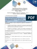 Guia de actividades y rubrica de evaluación - Tarea 2- Vectores matrices y determinantes