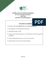 Model Paper Financial Management