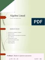 Algebra Lineal- primera clase.
