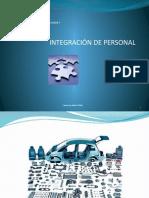 1- Integración del Personal