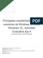 Principales características de las versiones de Windows 95 hasta Windows 10_ Actividad Evaluativa Eje 4