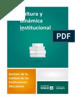 Cultura y dinámica institucional -