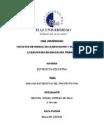Análisis estadístico del proyecto PISA