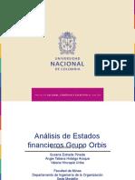 Análisis de Estados financieros Grupo Orbis