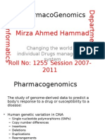 Current PharmacoGenomics 1