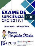 Simulado 50 Questões Comentado CFC 2019.1