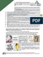 2 Periodo Guía de Artes Grado 6-1 y 6-2  LIC. DIANA E. CAMPOS OSORIO Sede popular J.Mañana Mayo 2020