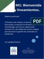 M1. Bienvenida + lineamientos   .pdf