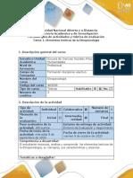 Guía de actividades y rúbrica de evaluación - Tarea 1 - Elementos teoricos de la Etnopsicología