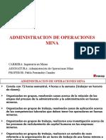 1 CLASE ADMINISTRACION DE OPERACIONES MINA