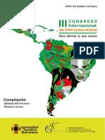 III Congreso de Interculturalidad. Para afirmar lo que somos. 2019. Colombia.