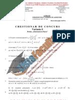 ListaFacultati.ro Subiecte Admitere Academia Tehnica Militara Bucuresti Matematica Fizica 2006