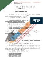 ListaFacultati.ro Subiecte Admitere Academia Tehnica Militara Bucuresti Fizica Sesiunea I - 2007