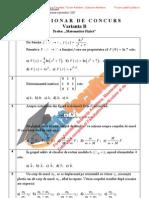 ListaFacultati.ro Subiecte Admitere Academia Tehnica Militara Bucuresti Matematica Fizica Sesiunea II - 2007