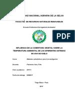 INFLUENCIA DE LA COBERTURA VEGETAL SOBRE LA TEMPERATURA AMBIENTAL DE LOS DIFERENTES SISTEMAS DE USO DE SUELO