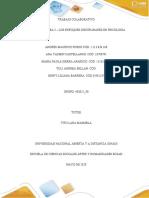 Unidad 3 – Tarea 3 – Los enfoques disciplinares en psicología