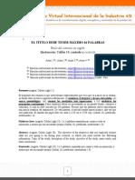 Guía para presentar Articulo de investigación