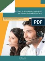 Información y atención al cliente. consumidor. usuario