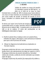 Parcial 2 Plantas Termicas 2020-I