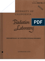 ucrl 5124 Phenomenology of Contained Nuclear Explosions