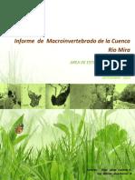 Macro Invertebrado Estudio Ambiental de Aguas en Criterio de Calidad de Rio Mira