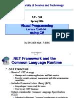 Visual C# programming
