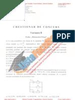 ListaFacultati.ro Subiecte Admitere Academia Tehnica Militara Bucuresti Matematica Fizica Var B 2010