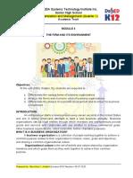 ORGANIZATION AND MANAGEMENT MODULE 4