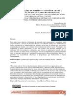 CONTRIBUIÇÕES DA PERSPECTIVA SISTÊMICA PARA A COMUNICAÇÃO NO CONTEXTO ORGANIZACIONAL