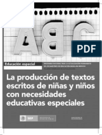 guía La producción de textos escritos de niñas y niños con necesidades educativas