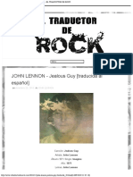JOHN LENNON - Jealous Guy [traducida al español] - EL TRADUCTOR DE ROCK