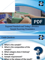 sample receiving presentation