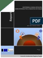 GEOTERMIA A BASSA ENTALPIA CENNI INTRODUTTIVI E INIZIATIVE IN PUGLIA geol. Michele CHIECO - Maggio 2011