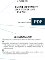 A PAPER on Replacement of Cement by Flyash and Silica Fume
