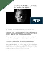 DISCURSO DE NICANOR PARRA PARA LA ENTREGA DEL PREMIO CERVANTES
