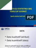 Jenis Data & Statistika sbg Tool of Sciece