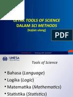 Letak Tools of Science dlm Sci Methods
