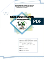 PROGRAMA MIÉRCOLES 09 DE SEPTIEMBRE 2020