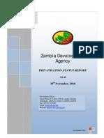 Zambia Privatisation Status Report 2010 - ZDA