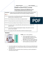 Pre-Assessment and PAR-Q.docx